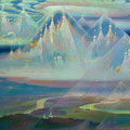 THE WORLD TRANSFIGURATED 2005-2006 (oil on canvas) 105x220