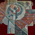 Монументальное панно РЕВОЛЮЦИЯ. СЕРП И МОЛОТ (мозаика) 1987-1988