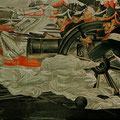 THE BATTLE OF BORODINO (Novosibirsk) 1986-1987 (tempera mural painting) 200x600