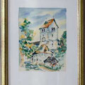 Pfarrkirche Seefelden, 1994 32 x 24, Aquarell, VERKAUFT