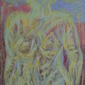 Dame transparent Acryl auf Leinwand, 120 x 120 cm Kaufpreis 1500 Euro Leihpreis 150 Euro