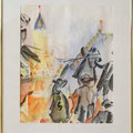 Überlinger Schwertletänzer 50 x 40, Aquarell,1994 Kaufpreis 350,- Mietpreis 35,-