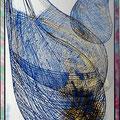 Tschallo 3, Mundgeblasenes Überfangglas geätzt, graviert 87 * 66 cm Leihpreis 800.-- Euro, Kaufpreis 8000.-- Euro