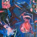 Blauer Daniel, Öl auf Nessel, 2012 110 * 100 cm Leihpreis 190.-- Euro, Kaufpreis 1900.-- Euro
