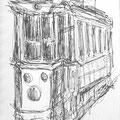 Istanbul Tram_13x19cm gezeichnet 2013