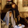 ... und sie legten das Kind in eine Krippe, Weihnachten 2015 (Milieukrippe in Sankt Maria in Lyskirchen, Foto © lyskirchen)
