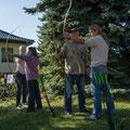 Grundkurs Bogenschießen auf unserem Grundstück in der Elsteraue