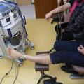 腕・足への電気治療