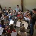 erste Probe des Jugendorchesters Klein-Umstadt