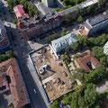 Строительная площадка. Вид с воздуха.