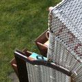 Amrum - Strandkorb zum Entspannen im Garten