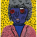 Portrait nach Keith Haring, Format: 300 x 420 mm
