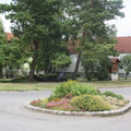 kleiner Park neben dem Haus
