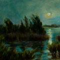 Island Moonrise [SOLD] --- Medium: Oil --- Size: 16 X 20