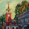 Rice Museum and Clock Tower ---  Medium: Oil -- Size: 12 X 12 [SOLD]