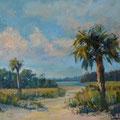 Where The Beach Meets The Creek --- 30x24 --- Oil