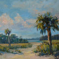 Where The Beach Meets The Creek --- 30x24 --- Oil [SOLD]
