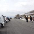 山頂の駐車場