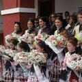 Départ du défilé du Mayo Manchego, le 1er mai