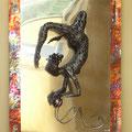 Dancer - Size (cm): 70x50x15 - Weigth: 5,6 kg - metal sculpture