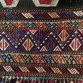 antique kazak tent door kilim 部分