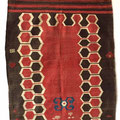 antique kazak tent door kilim