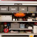 GR 1 mit Bergeausrüstung, Schleifkorbtrage, Schanzwerkzeug