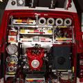 Gerätraum hinten, mit Tragkraftspritze und Stromerzeuger