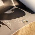 PVC Banner bedruckt - Konfektion: gesäumt und geöst - Ansicht Vorderseite bedruckt