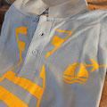 Polo T-Shirt bedruckt mit Transferfolie - ab 1 Stück möglich