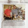20.08.08 und in der Kärntner Tageszeitung sogar mit Foto