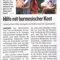18.07.09  der Burma Abend im Kultursaal wird in der kleinen Zeitung angekündigt