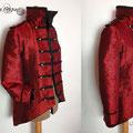 Commande veste rouge burlesque circus jacket red cabaret