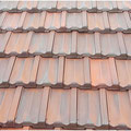 High Pressure clean terracotta roof tiles