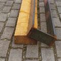 """Form und Raum im Dialog"" (Detail) | Holz, Metall"