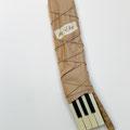 """Dein treuer Ludwig""  |  Klaviertasten, Packpapier, Kordel"