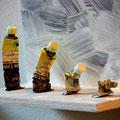 """Evolution"" | Holz, Farbtuben | 22 x 27 cm"