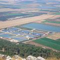 Abwasserresevoirs zur Bewässerung der Baumwollfelder