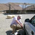 Reifenpanne in der Negev