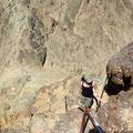 Kurz unter dem Gipfel des Mount Shlomo