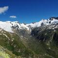 Blick zum Großvenediger-Gletscher