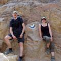 Der Kreuzungspunkt aam Israel National Trail