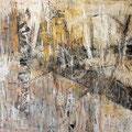 """""""Zeit und Raum 6"""", Acryl auf Bw, 100 cm x 120 cm, 2001"""