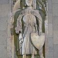 Adelige Kleidung: Epitaph Gottfried von Cappenberg (Abguss), Selm-Cappenberg (vor 1330) [Foto von Wikipedia-User Montecappio]