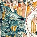 Symbolisch verwendete dicke Polsterung: Agyptische Armee, St. Florian, Österreich (ca. 1310-1320)