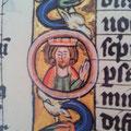 Codex Henricus (1. Viertel 14. Jhdt.), fol 152r: Hier das Buntwerk ausnahmsweise in braun.