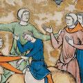 Detail der Mittelnaht: Maciejowski-Bibel, fol. 6r