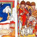 Codex Manesse und Nequambuch: Polsterkleidung als Symbol für unvollständige Panzerung bei Raubrittern