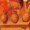 Konstruktives Detail: Tischbeine in Querhölzern, Sienna (1308)