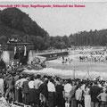 Slalomweltmeisterschaften 1951 in Steyr, Kugelfangwehr - Schlussteil der Strecke